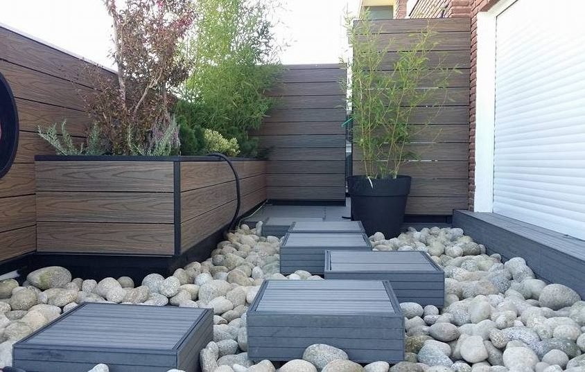 Jardineras Paredes Y Pasos Japoneses En Terraza Decocarpin